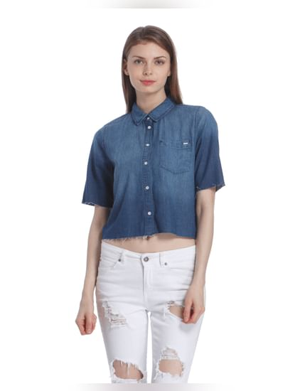 Women Casual Denim Shirt