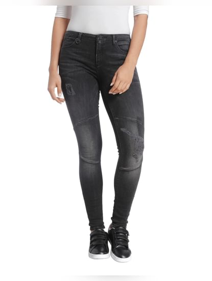 Washed Casual Jeans