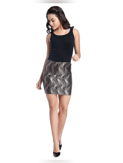Solid/Sequins Party Skirt