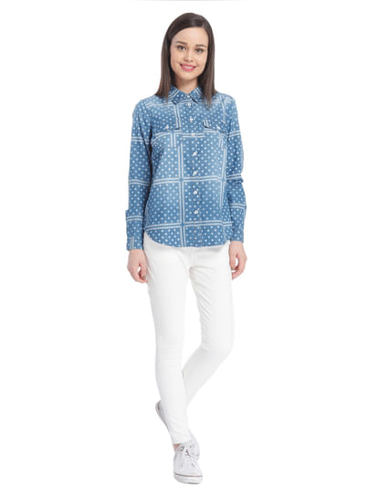 Women Casual Denim/Printed Shirt
