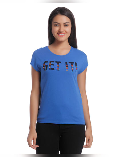 Round Neck T-Shirt With Embroidered Front