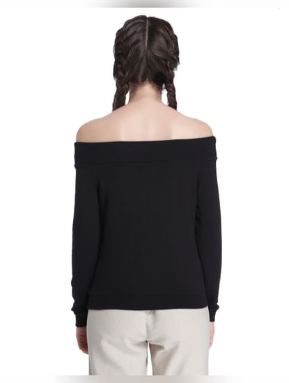 Black Off Shoulder Sweater