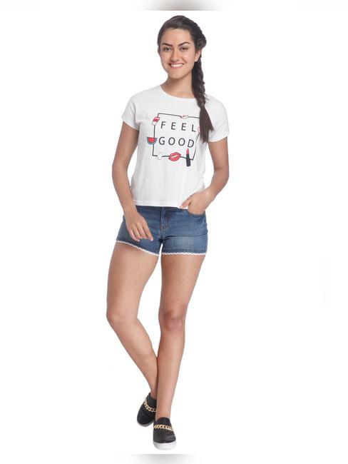 Chest Print Casual T-Shirt