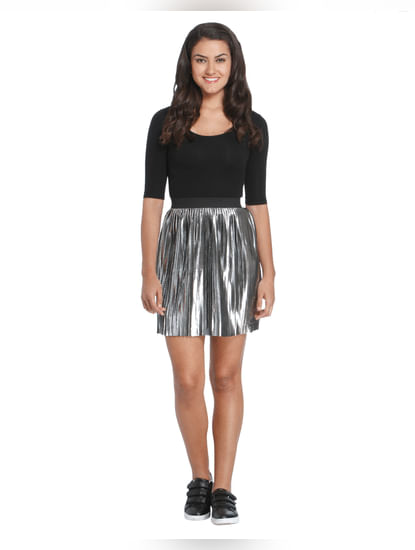 Solid Casual Skirt