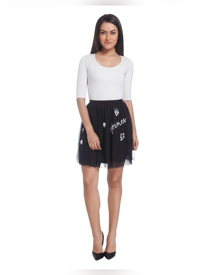Sequins Tulle Skirt