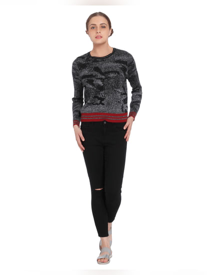 Black Shimmery Pullover