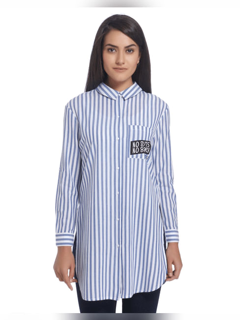 Striped Blue Long Shirt