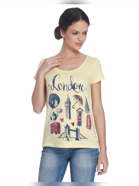 Yellow London Print T-Shirt