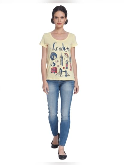 Yellow London Print T-Shirt