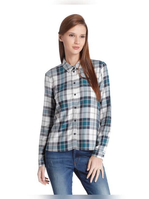 Blue Checkered Full Sleeve Shirt