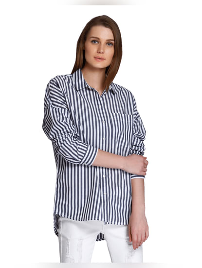 Grey Striped Shirt