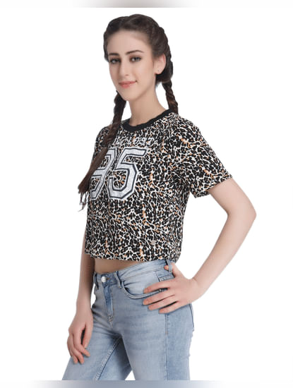 Animal Print Crop Top