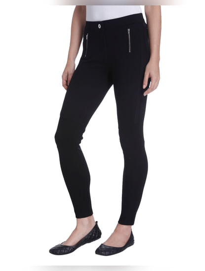 Black Zip Detail Leggings