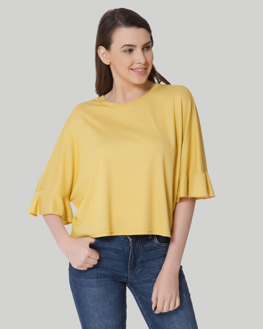 Mustard Drop Shoulder T-Shirt