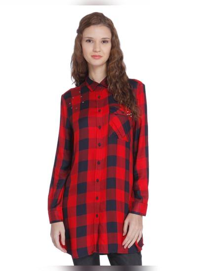 Red Check Long Shirt