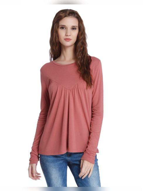 Rust Full Sleeved T-Shirt