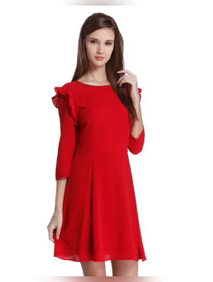 Scarlet Fit & Flare Mini Dress