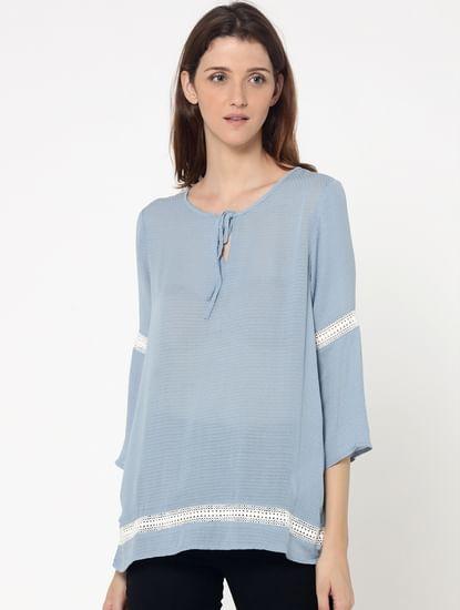 Blue Lace Detail Tunic