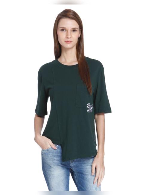Green Overlap T-Shirt