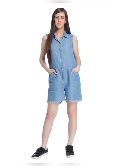 Light Blue Denim Jumpsuit