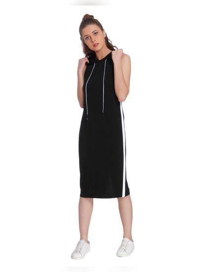 Black Hoodie Midi Dress