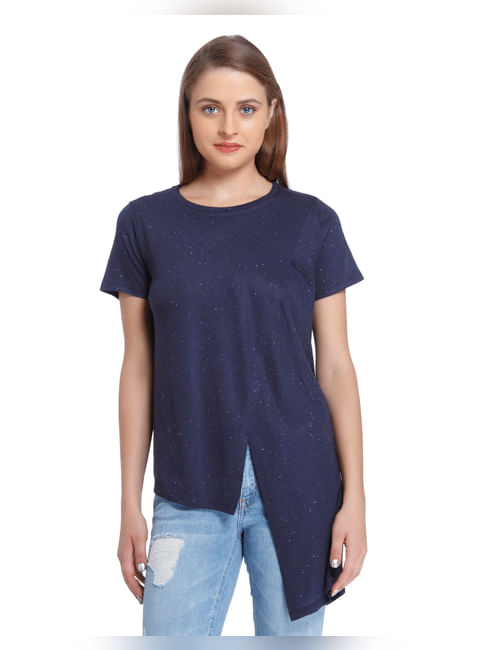 Blue High Low Top