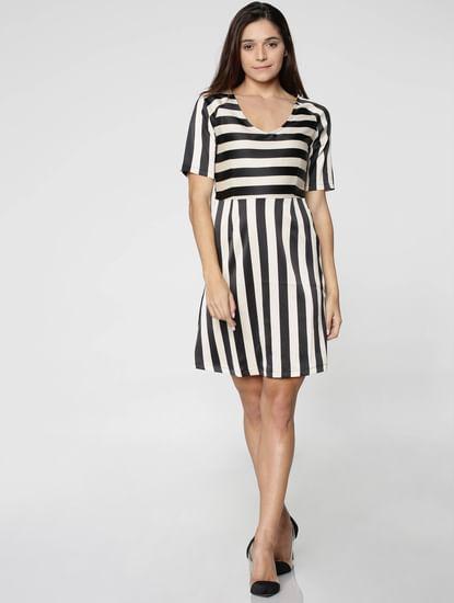 Black Stripped Mini Dress