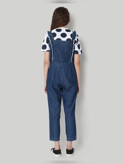 Dark Blue Sleeveless Jumpsuit