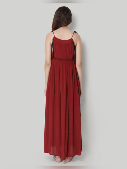 Red Strap Maxi Dress