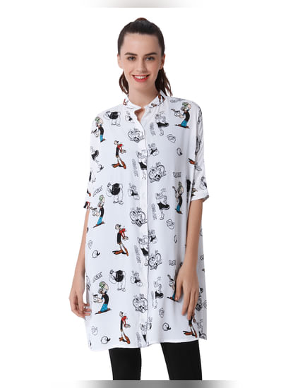 X Popeye All Over Print Long Shirt
