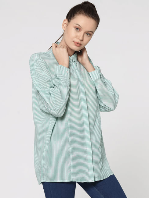 Green Striped Shirt