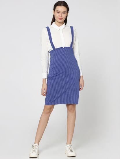 Blue Striped Bodycon Dress
