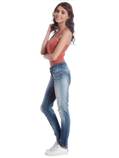 Casual Distressed/Medium Wash Jeans