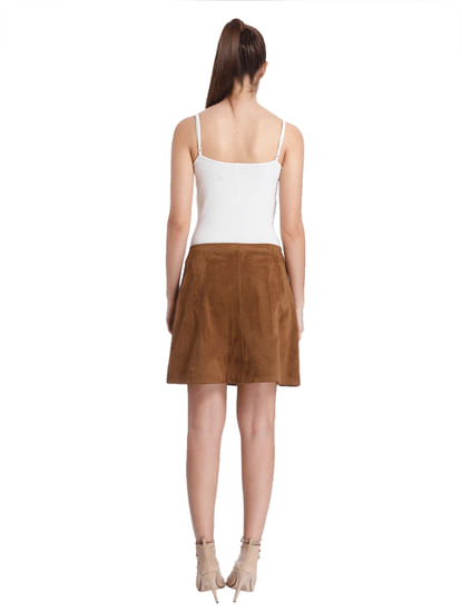 Women Casual Solid Skirt