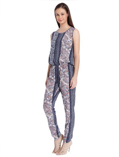 Women Casual Printed Jumpsuit