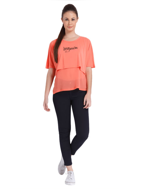 Women Casual Solid/Print On The Bust Area Top
