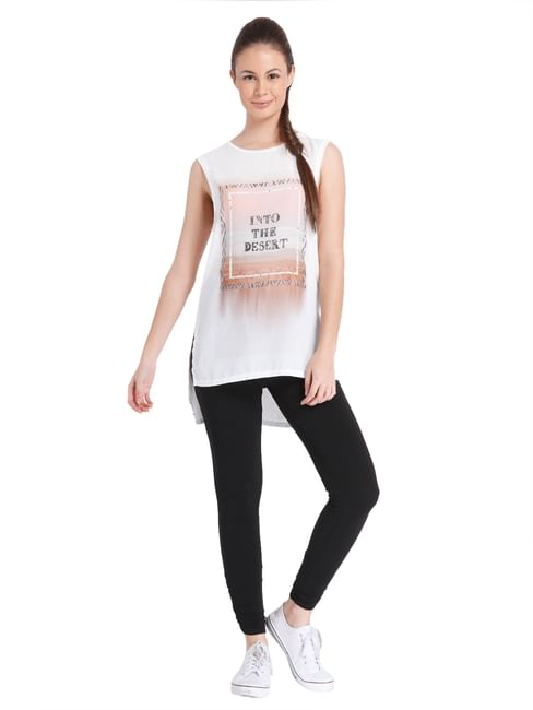 Women Casual Printed At The Front Top
