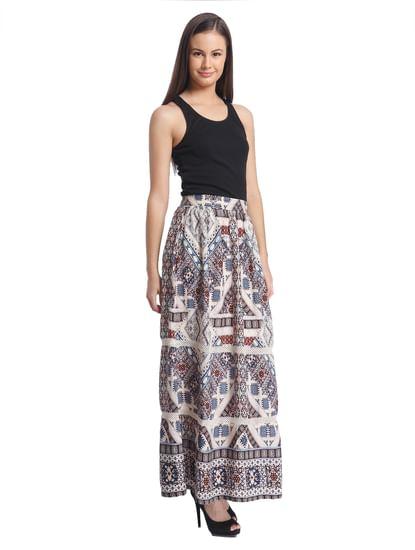 Women Casual Printed Skirt