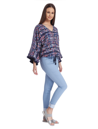 Casual All-Over Print Jacket