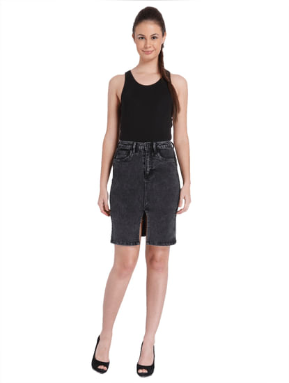 Women Casual Washed Skirt