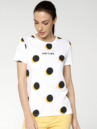 White Polka Dot T-Shirt