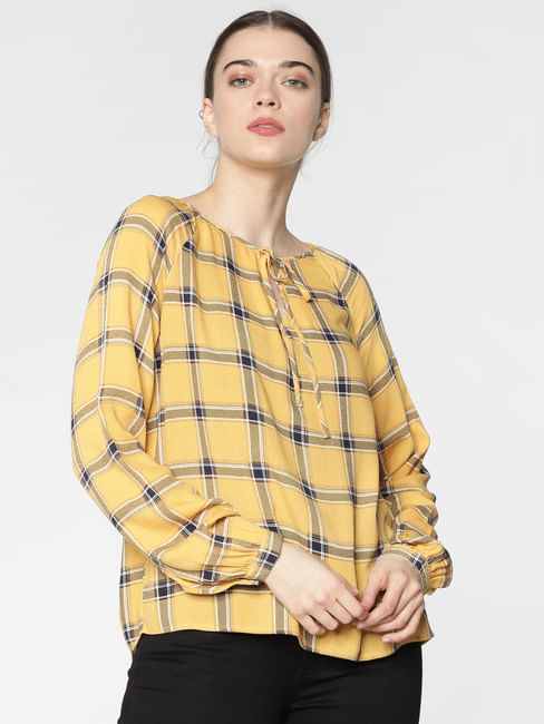 Yellow Checks Top