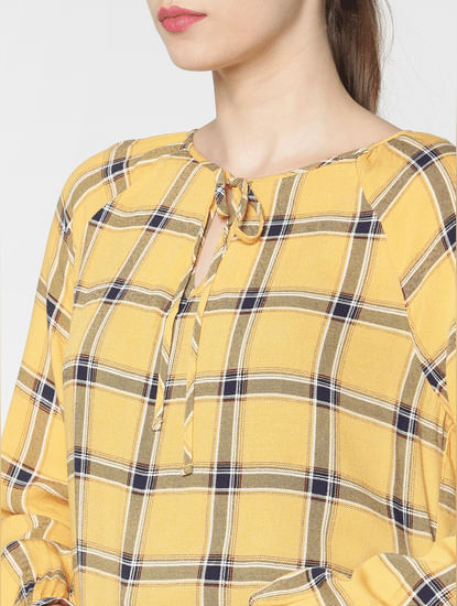Yellow Checks Top