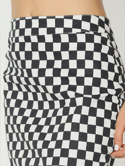 X Simpsons White Check Mini Skirt