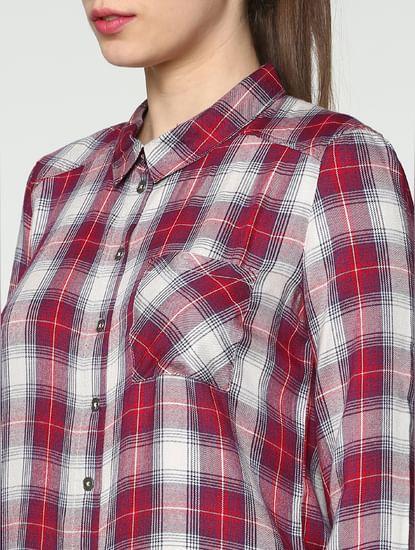 White Checks Shirt