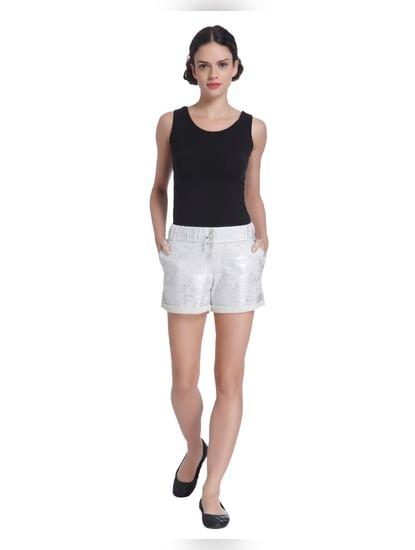 Grey Textured Shorts
