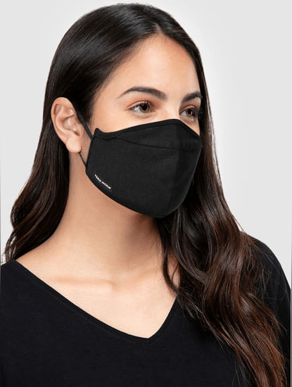 Pack of 2 3PLY Knit Anti-Bacterial Mask - Black & Grey