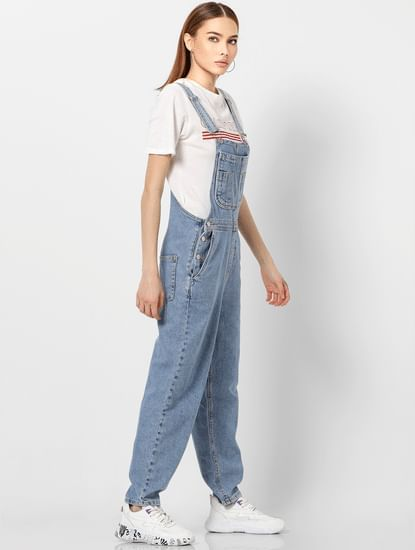 Blue Light Washed Denim Dungaree
