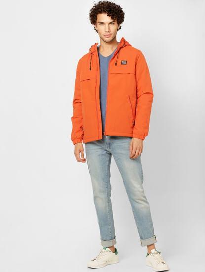Orange Hooded Jacket