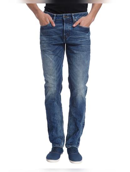 Blue Solid Denim Jeans